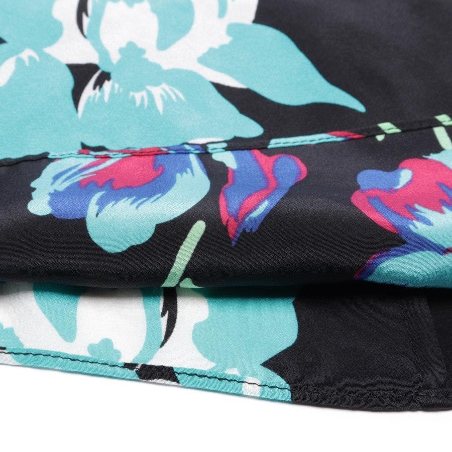Seidenkleid von Diane von Furstenberg in Schwarz und Multicolor Gr. 36 US 6