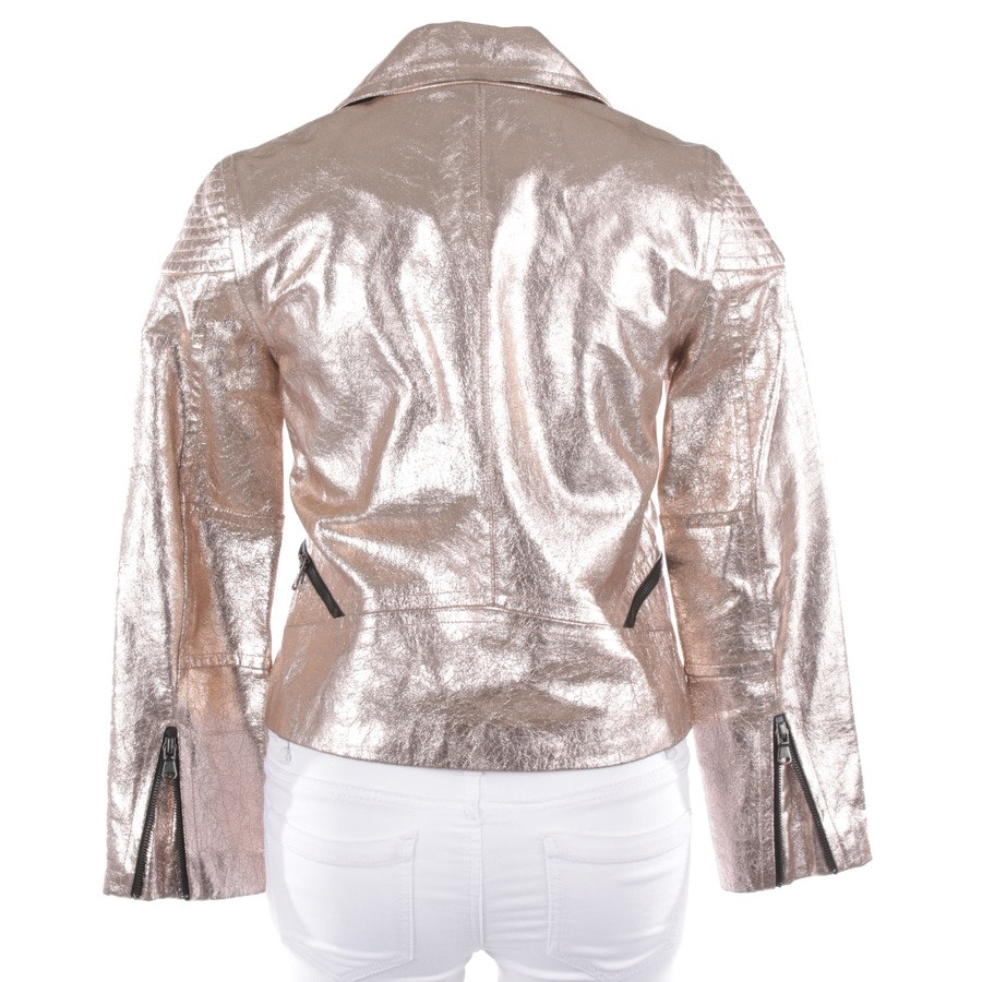 leather jacket from Marc by Marc Jacobs in gold size S