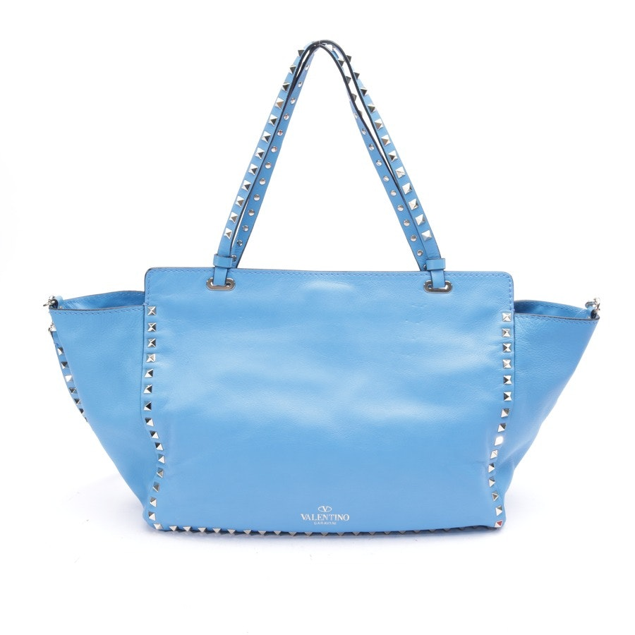 shopper from Valentino in medium blue - rockstud