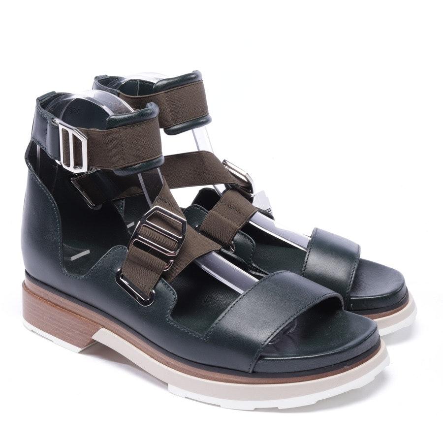 Sandaletten von Hermès in Grün Gr. D 38 - NEU
