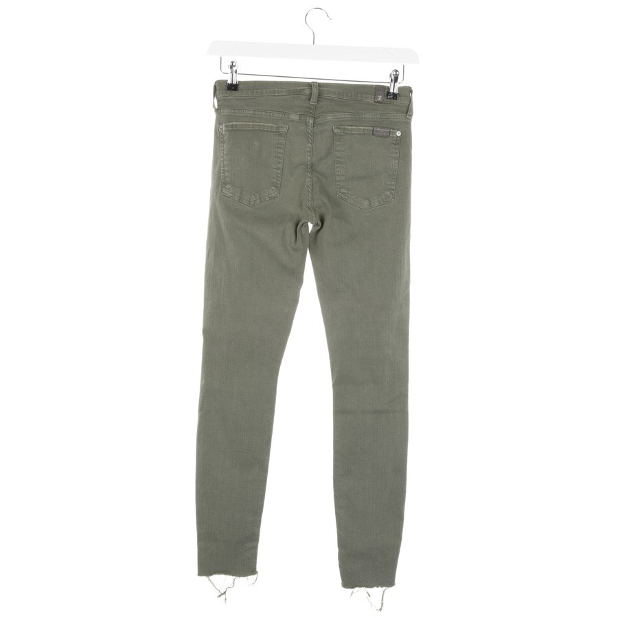 Jeans von 7 for all mankind in Olivgrün Gr. W28