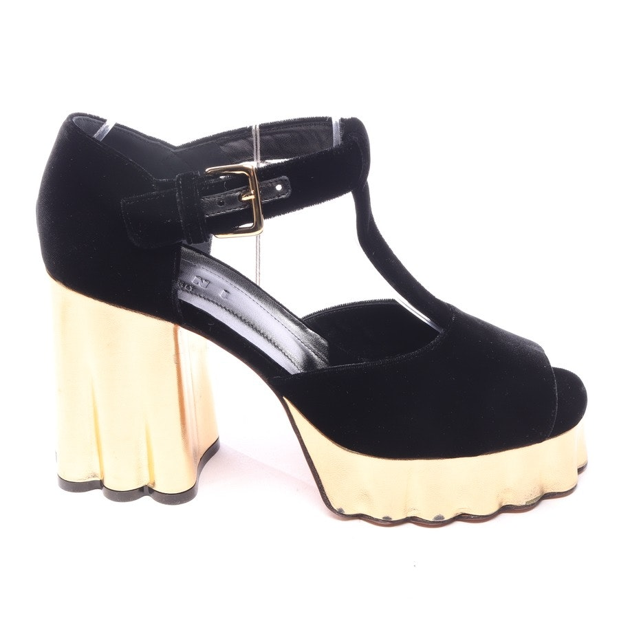 heeled sandals from Marni in black and gold size EUR 39,5 - new