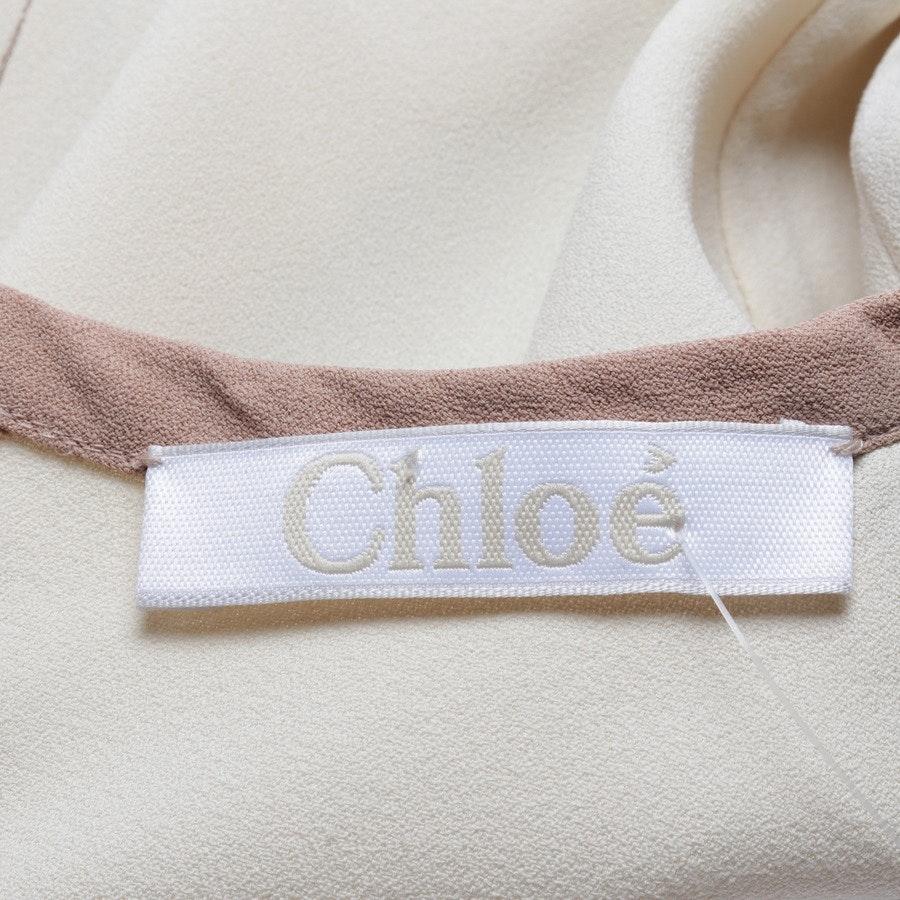 Kleid von Chloé in Beige und Braun Gr. 34 FR 36
