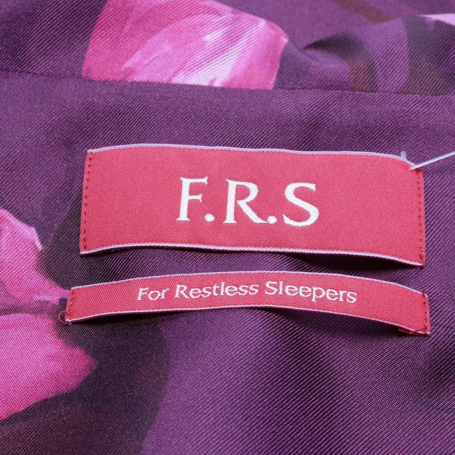 Seidenbluse von F.R.S. For Restless Sleepers in Aubergine und Rosa Gr. S - Neu