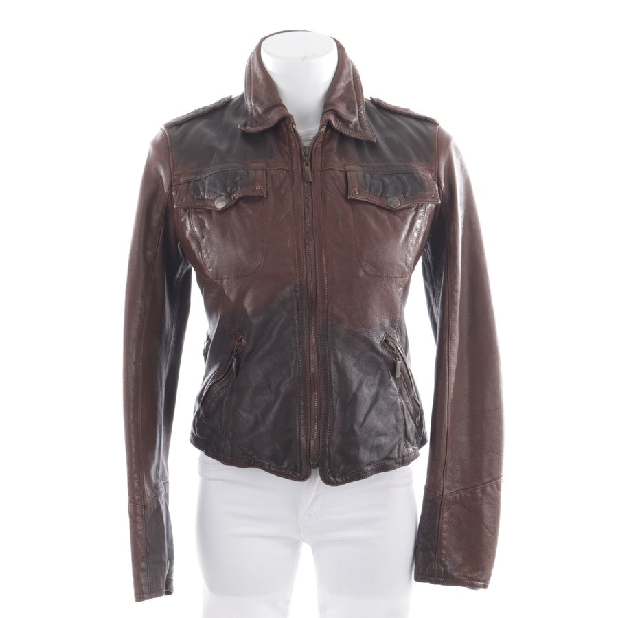 leather jacket from Just Cavalli in brown size DE 36 IT 42