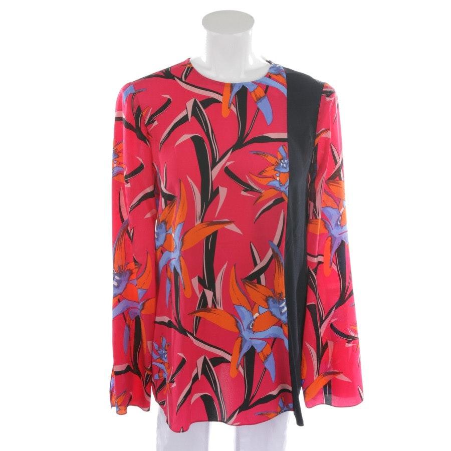 Seidenbluse von Diane von Furstenberg in Magenta und Multicolor Gr. 34 US 4 - Neu
