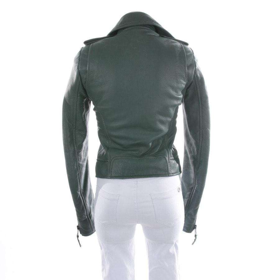 Lederjacke von Balenciaga in Graugrün Gr. 36 FR 38