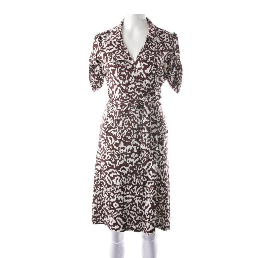 Seidenkleid von Diane von Furstenberg in Dunkelbraun und Weiß Gr. 42 US 12