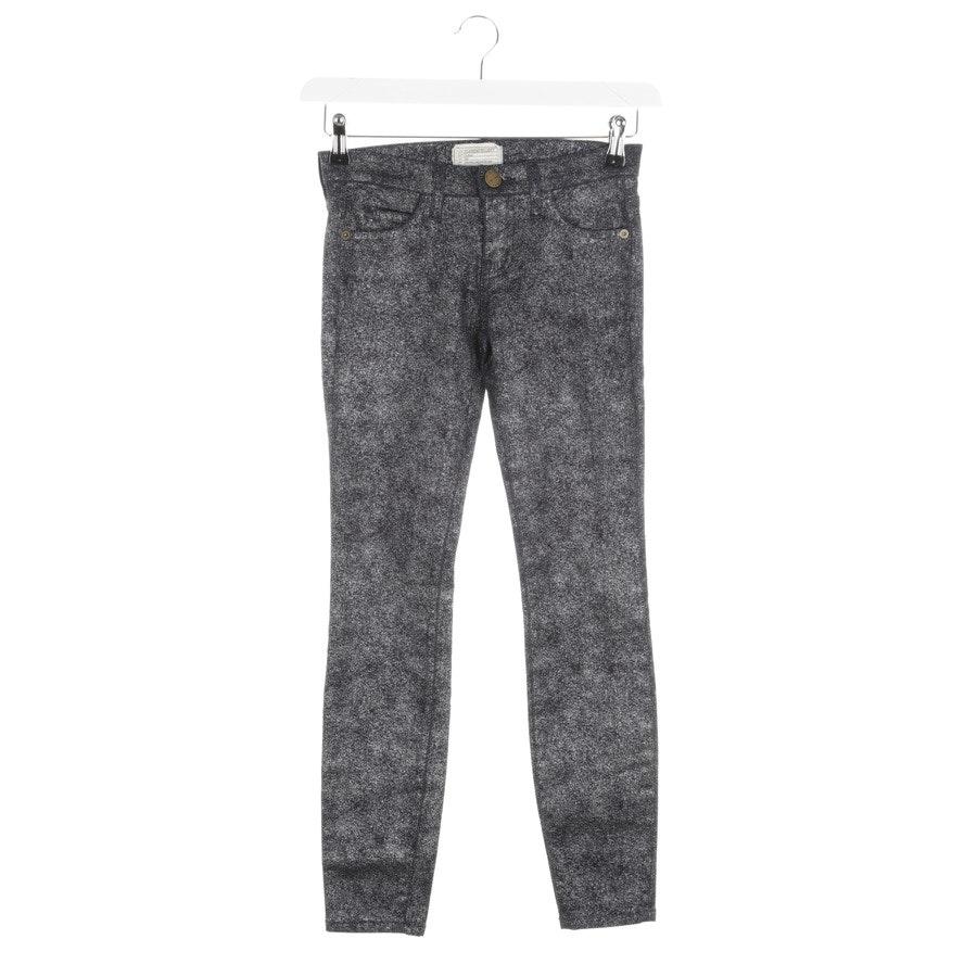 Jeans von Current/Elliott in Nachtblau und Silber Gr. W24 - The Stiletto - Neu