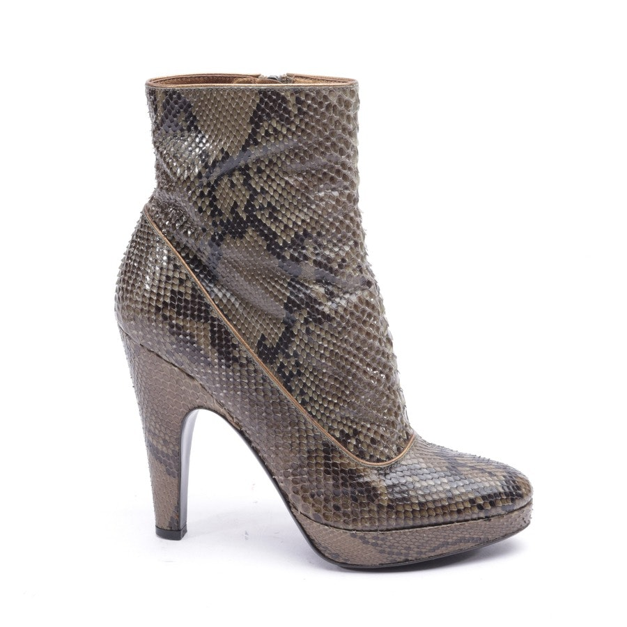 ankle boots from Prada in olive green and black size EUR 36