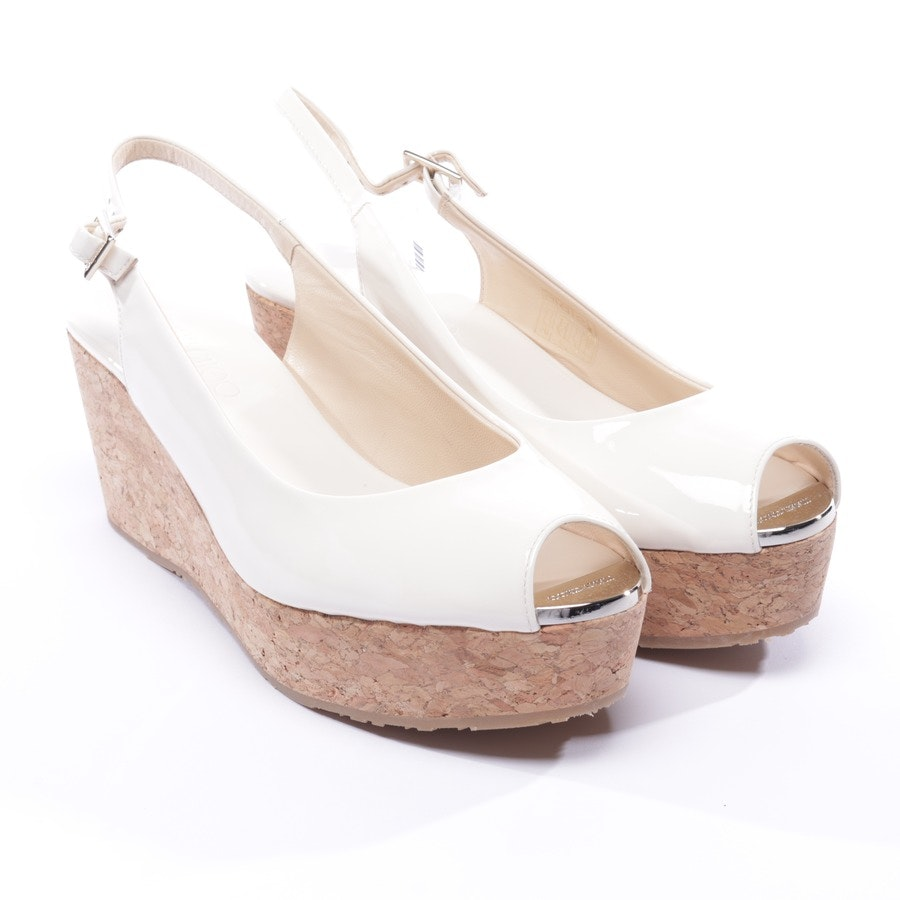 heeled sandals from Jimmy Choo in cream size EUR 39,5 - praise - new