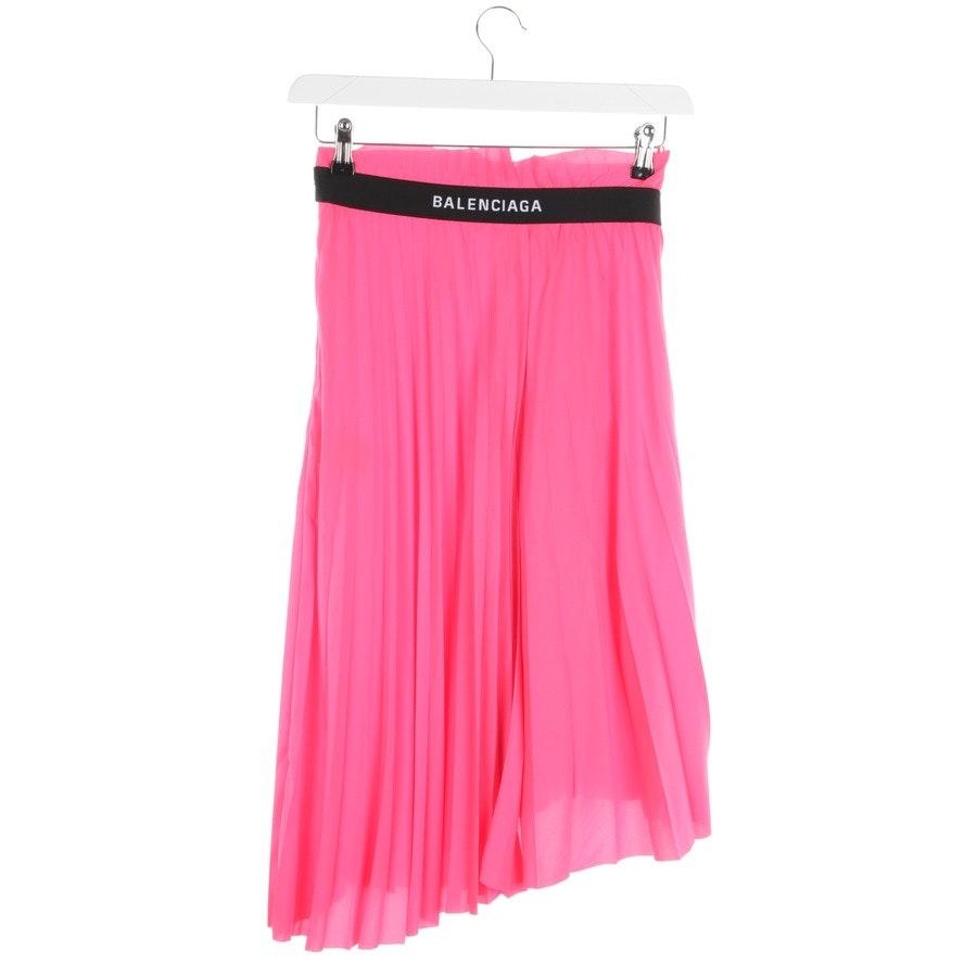 Faltenrock von Balenciaga in Neon Pink Gr. 34 FR 36