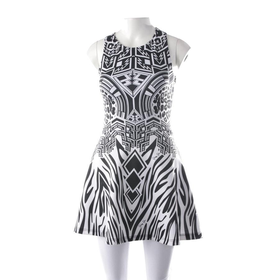 Kleid von Philipp Plein in Schwarz und Weiß Gr. S