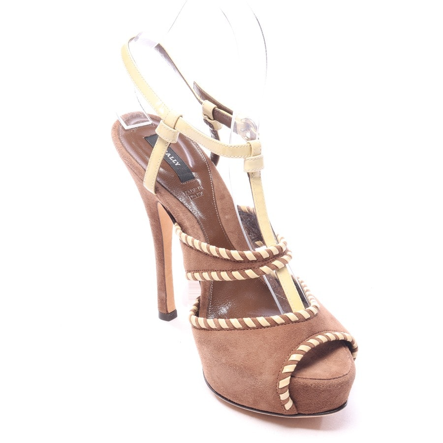 heeled sandals from Bally in brown and beige size EUR 37 - new