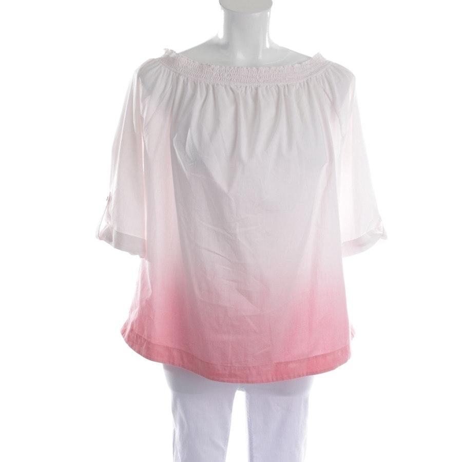 Bluse von Patrizia Pepe in Weiß und Rosa Gr. 36 IT 42
