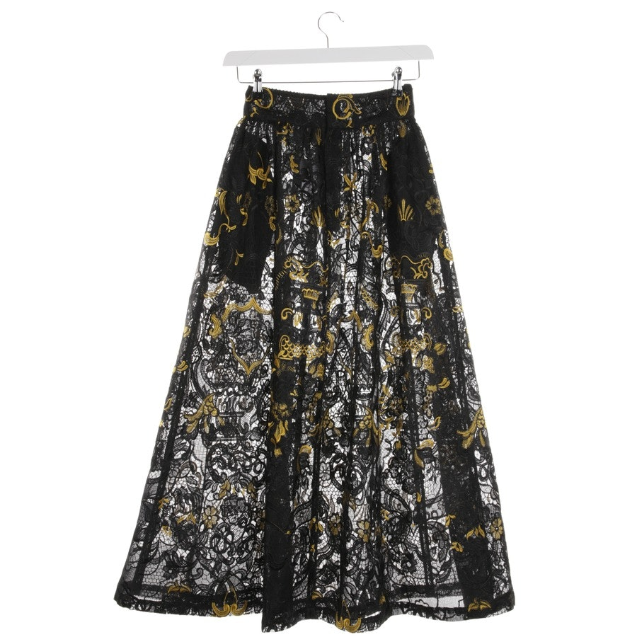 skirt from Ganni in black and gold size 32 - new
