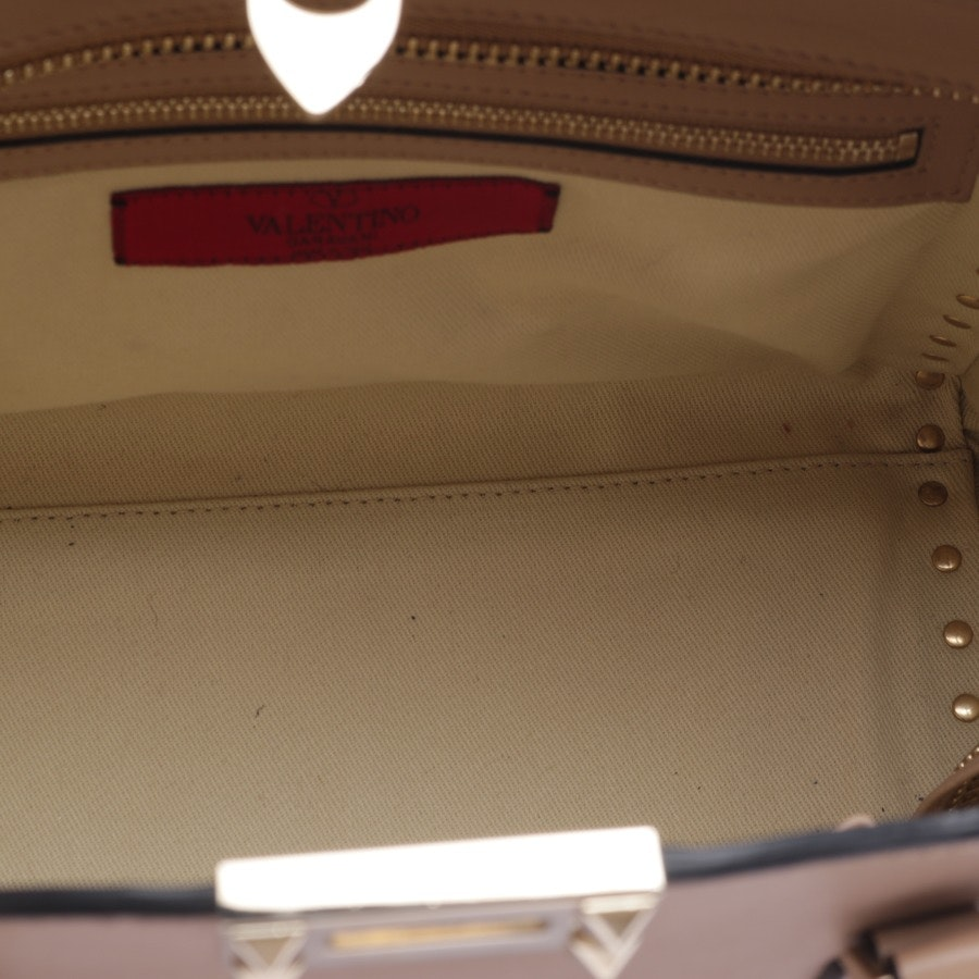 Schultertasche von Valentino in Beige - Rockstud