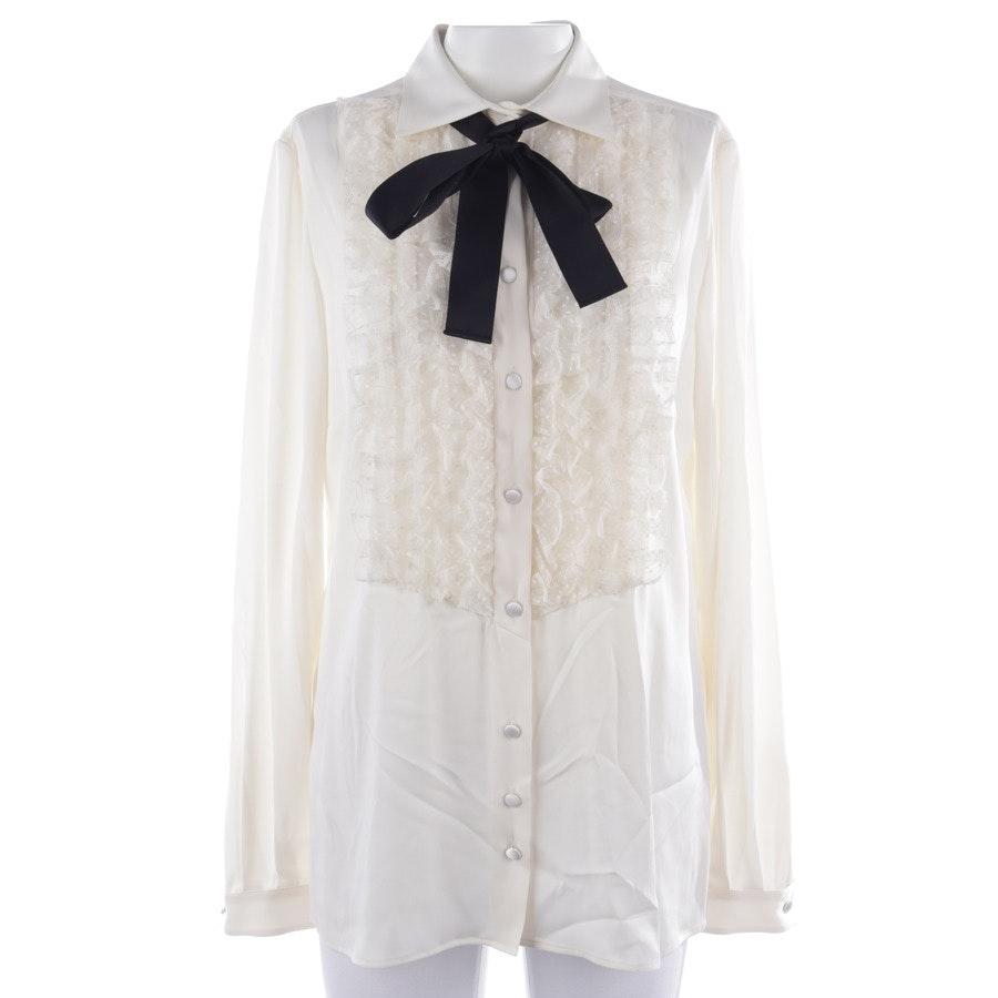 Bluse von Dolce & Gabbana in Creme und Schwarz Gr. 38 IT 44 - Neu