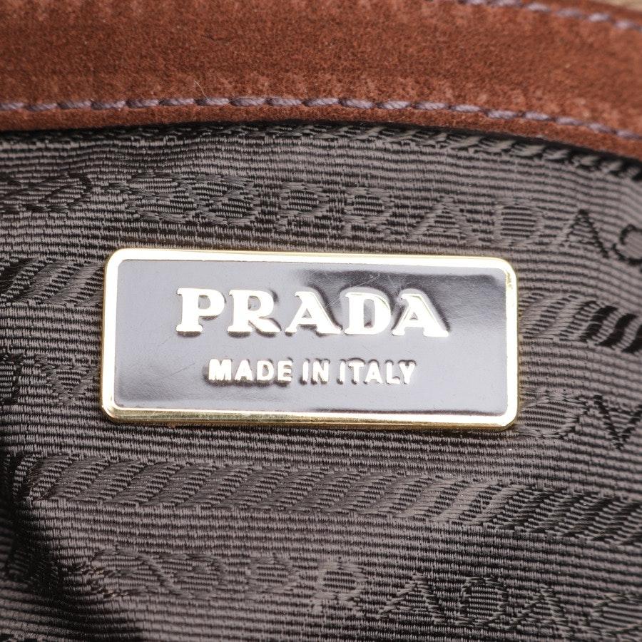 Schultertasche von Prada in Braun