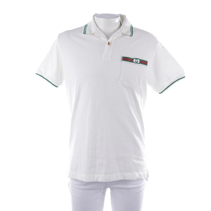 Poloshirt von Gucci in Weiß und Grün Gr. XS