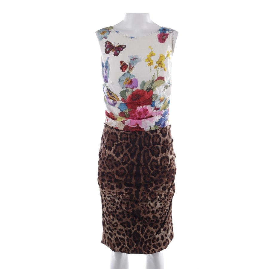 Cocktailkleid von Dolce & Gabbana in Braun und Multicolor Gr. 36 IT 42