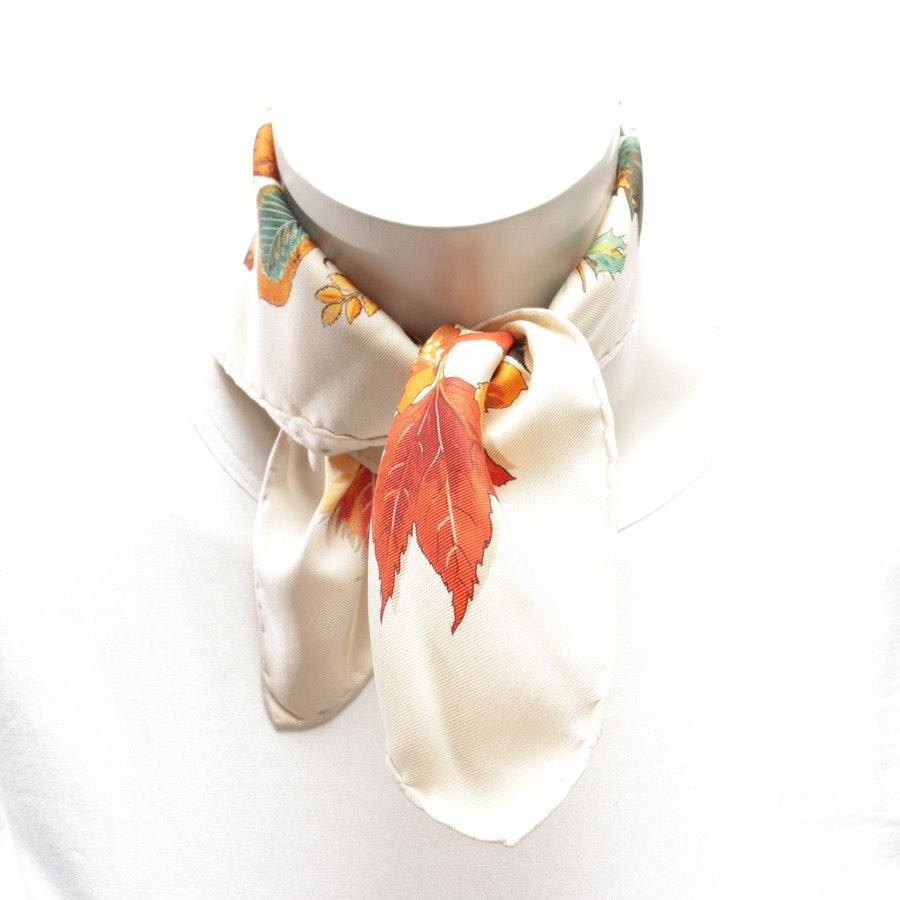 Seidengavroche von Hermès in Beige und Mehrfarbig