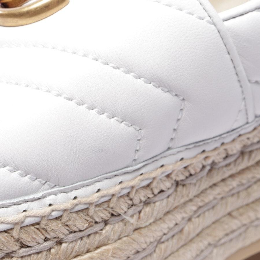Espandrilles von Gucci in Weiß Gr. EUR 38 - Neu