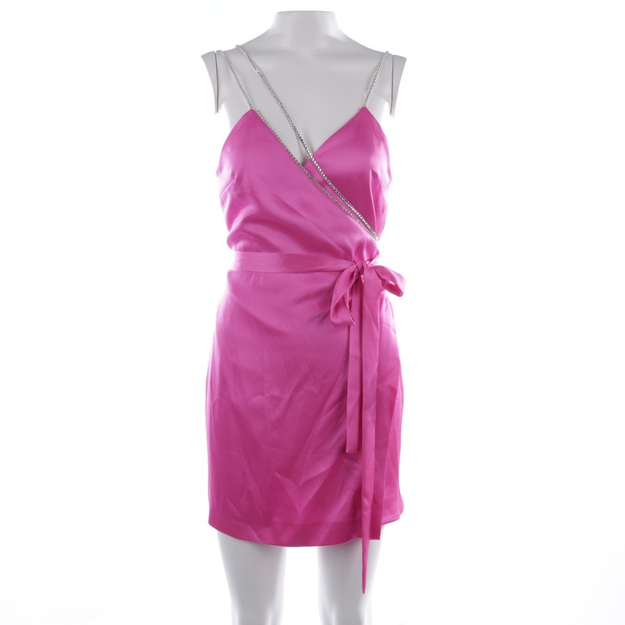 Kleid von David Koma in Fuchsia Gr. 38 UK 10 - Crystal Chain Straps & Detailing Wrap Mini Dress - Neu