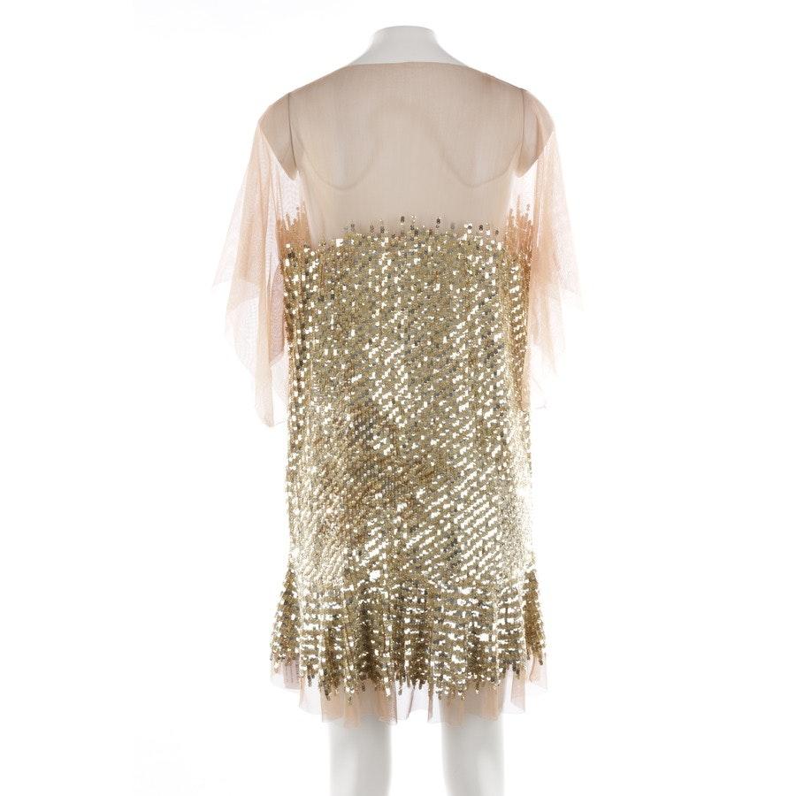 Paillettenkleid von Roberto Cavalli in Nude und Gold Gr. M