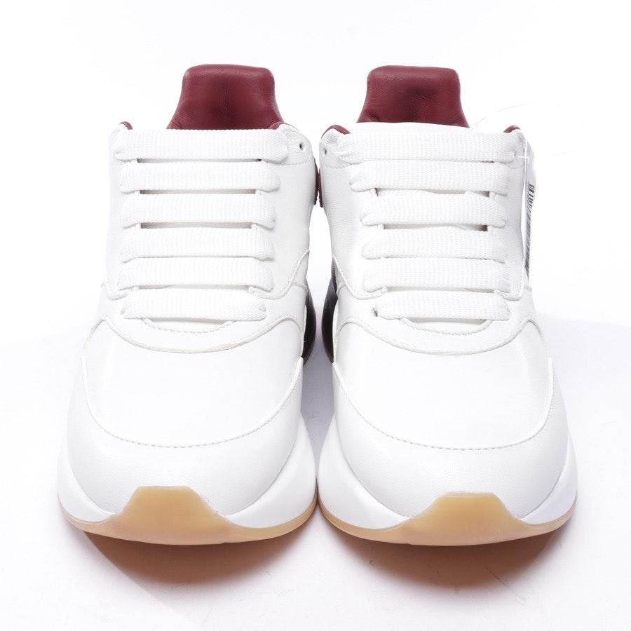 Sneaker von Alexander McQueen in Bordeaux und Weiß Gr. EUR 36 - Neu