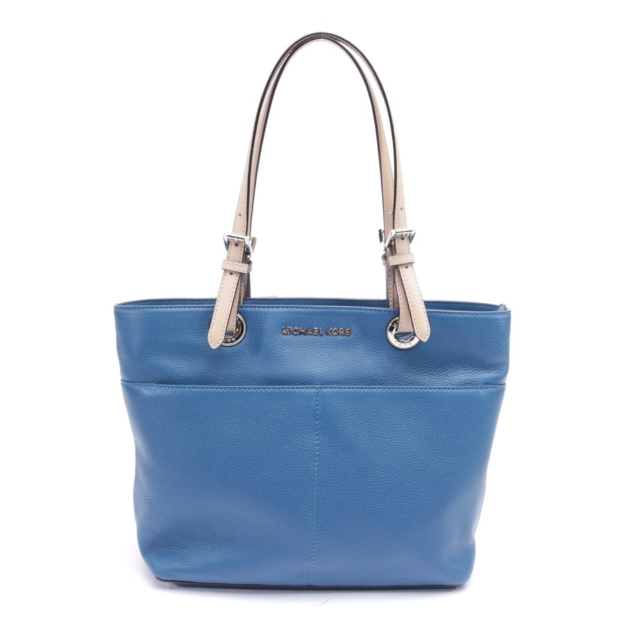 shoulder bag from Michael Kors in blue and beige - new