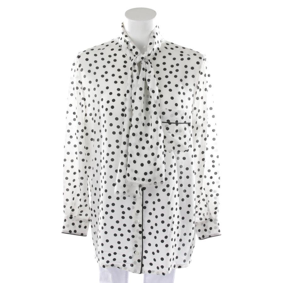 Seidenbluse von Dolce & Gabbana in Weiß und Schwarz Gr. 38 IT 44