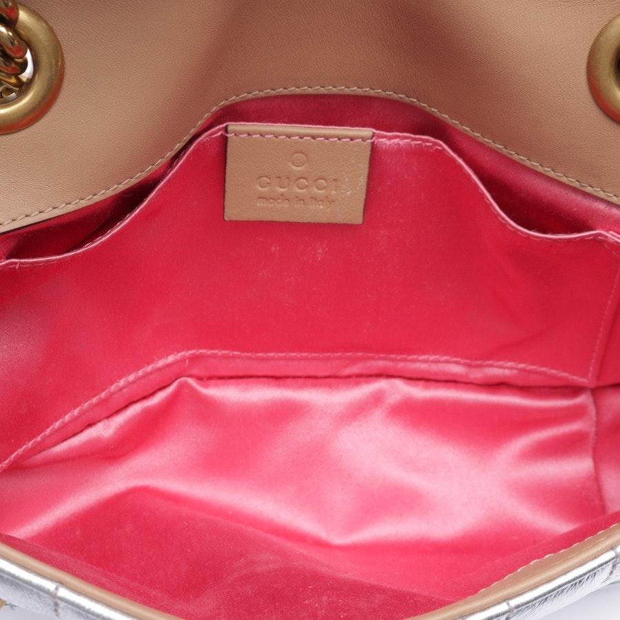 Schultertasche von Gucci in Silber - Marmont