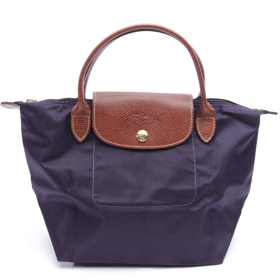 handbag from Longchamp in aubergine and brown - le pliage s