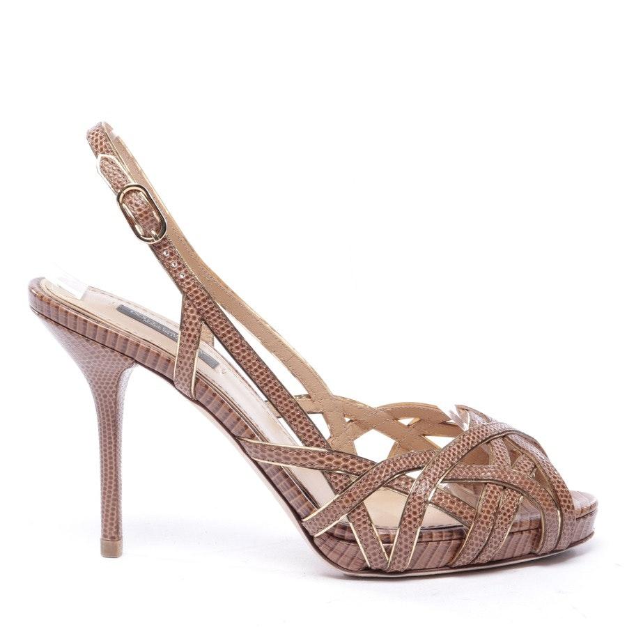 Sandaletten von Dolce & Gabbana in Braun und Gold Gr. EUR 38