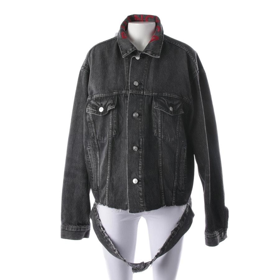 Jeansjacke von Balenciaga in Grau meliert und Rot Gr. 32 FR 34 - Neu