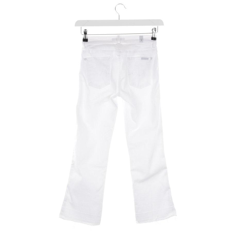 Jeans von 7 for all mankind in Weiß Gr. W25