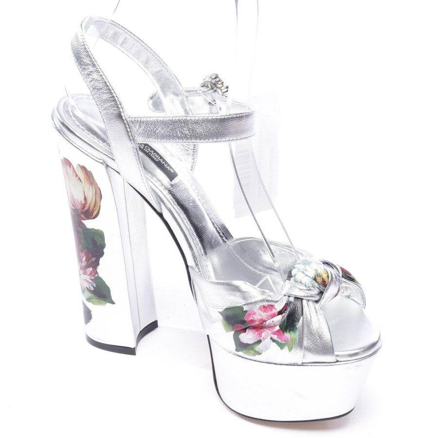 heeled sandals from Dolce & Gabbana in silver and multicolor size EUR 36 - new