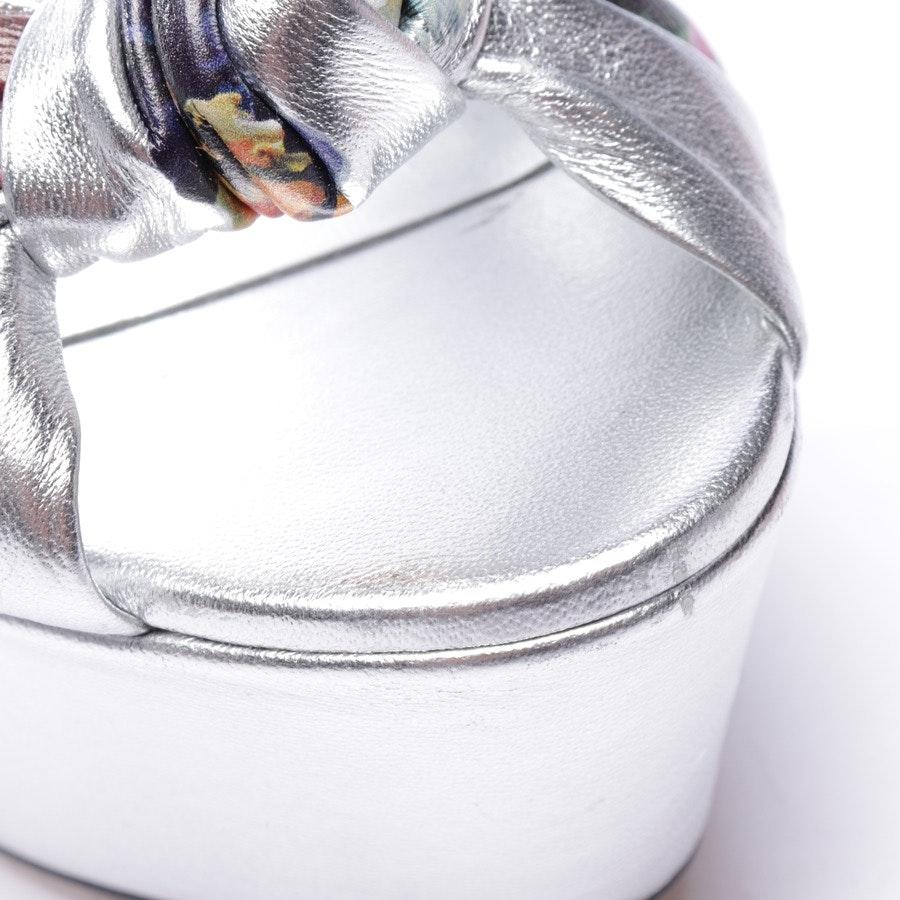 Sandaletten von Dolce & Gabbana in Silber und Multicolor Gr. EUR 36 - Neu