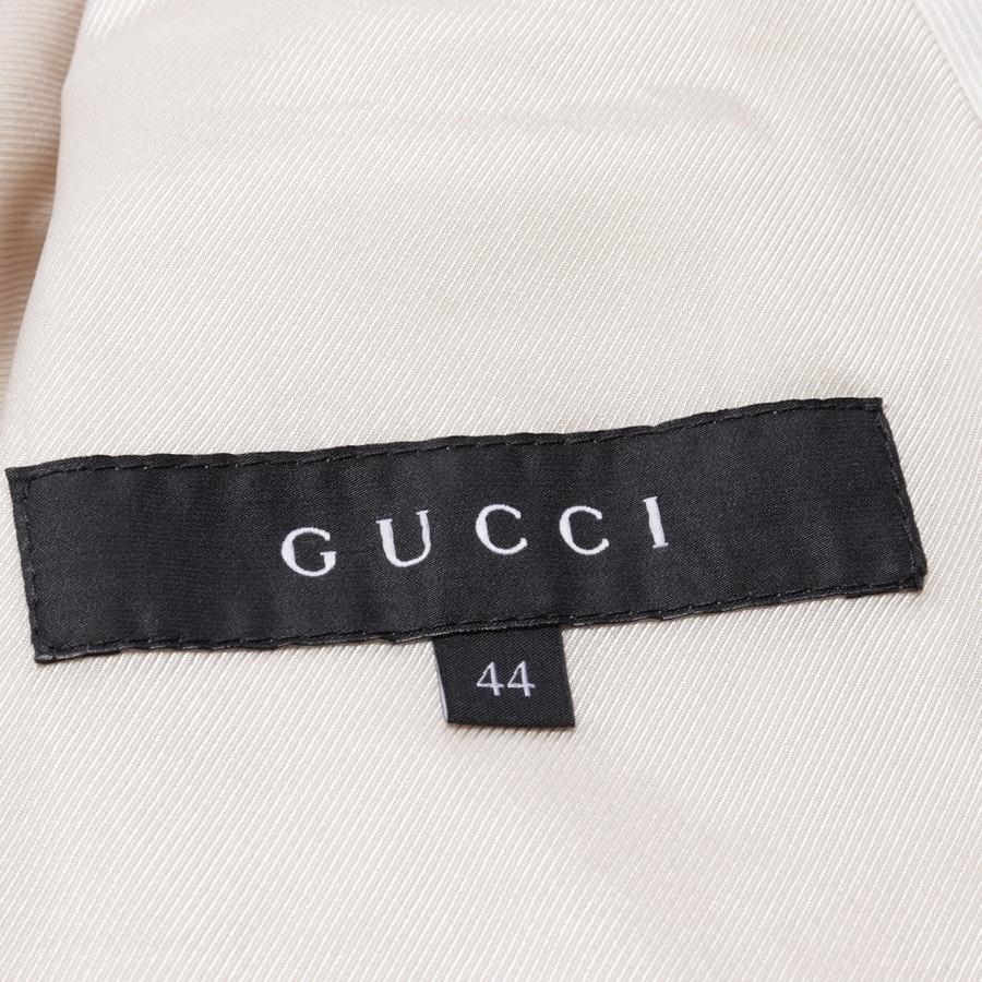 Jacke von Gucci in Ivory und Gold Gr. 38 IT 44