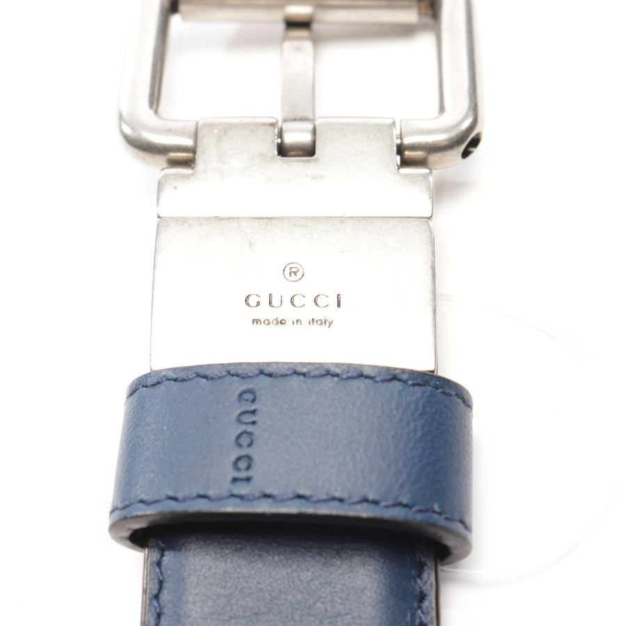 Wendegürtel von Gucci in Blau und Beige Gr. 105 cm