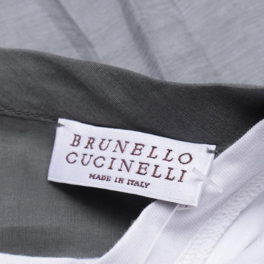 Bluse von Brunello Cucinelli in Khaki und Weiß Gr. M