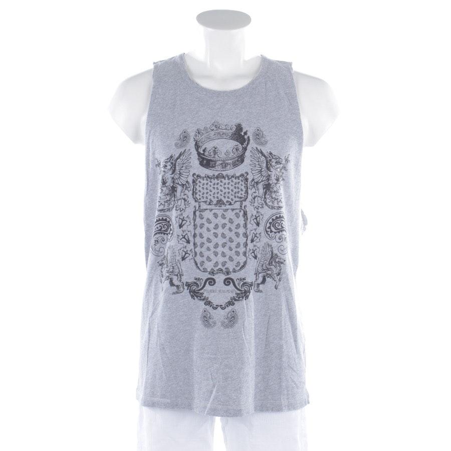 Shirt von Pierre Balmain in Grau meliert und Schwarz Gr. XL - Neu - Canotta