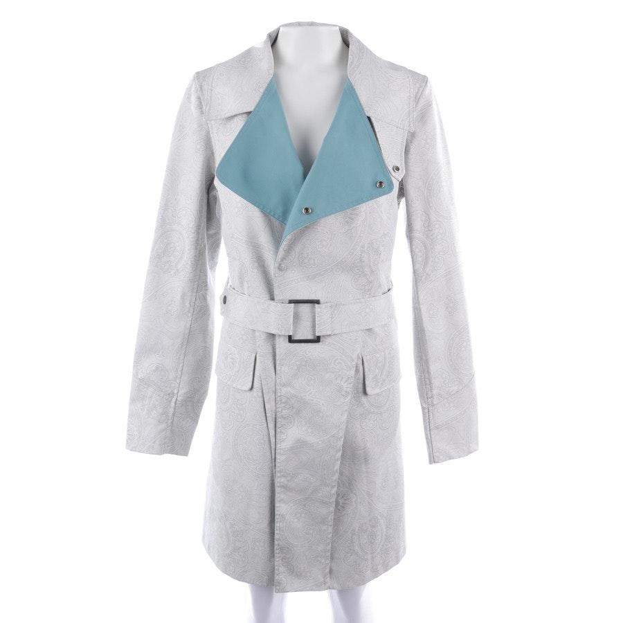 Mantel von Stella McCartney in Hellgrau und Weiß Gr. 38 IT 44