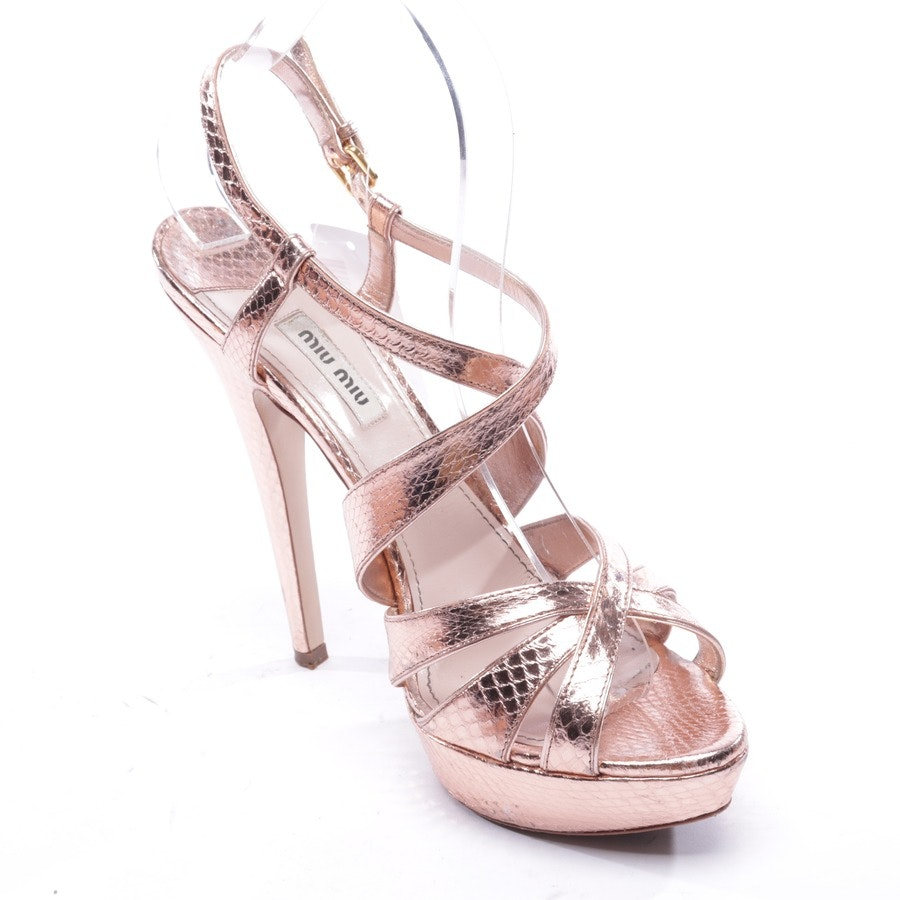 heeled sandals from Miu Miu in gold size EUR 39,5