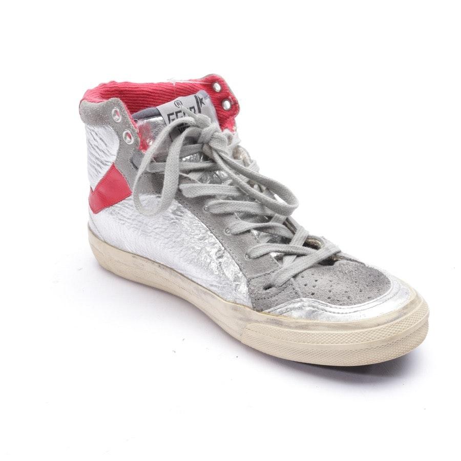 High- Top Sneakers von Golden Goose in Silber und Rot Gr. EUR 38