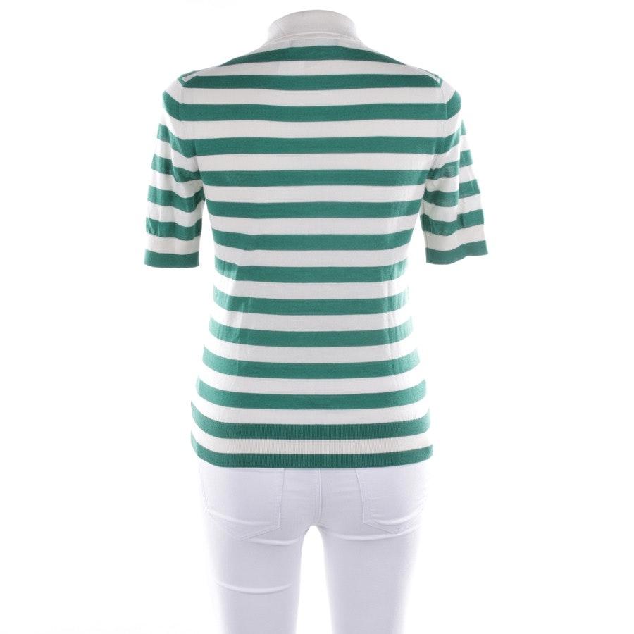 Poloshirt von Dolce & Gabbana in Grün und Weiß Gr. 34 IT 40