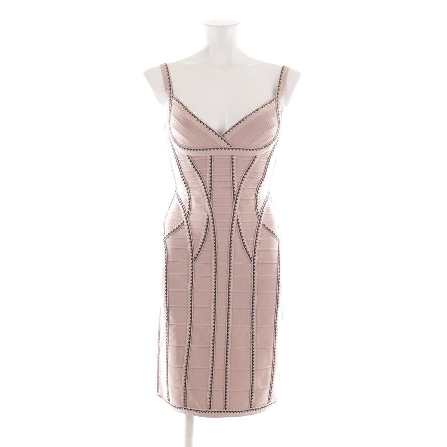 Kleid von Hervé Léger in Altrosa und Schwarz Gr. M