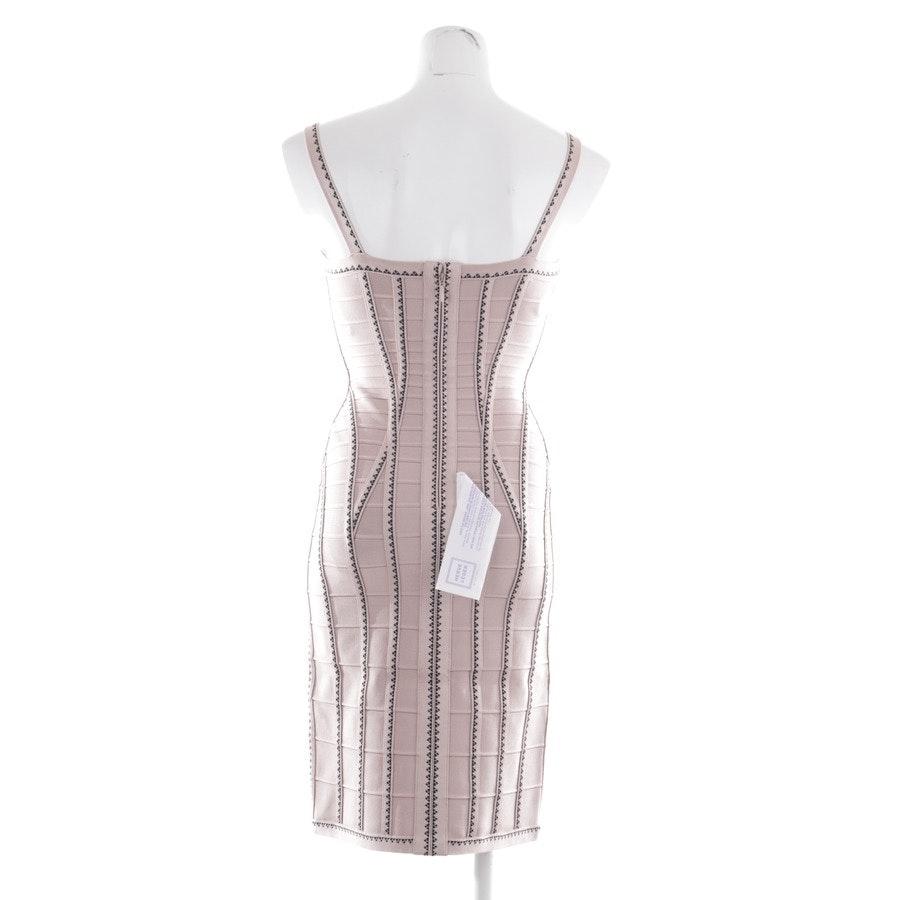 Kleid von Hervé Léger in Beige und Schwarz Gr. S