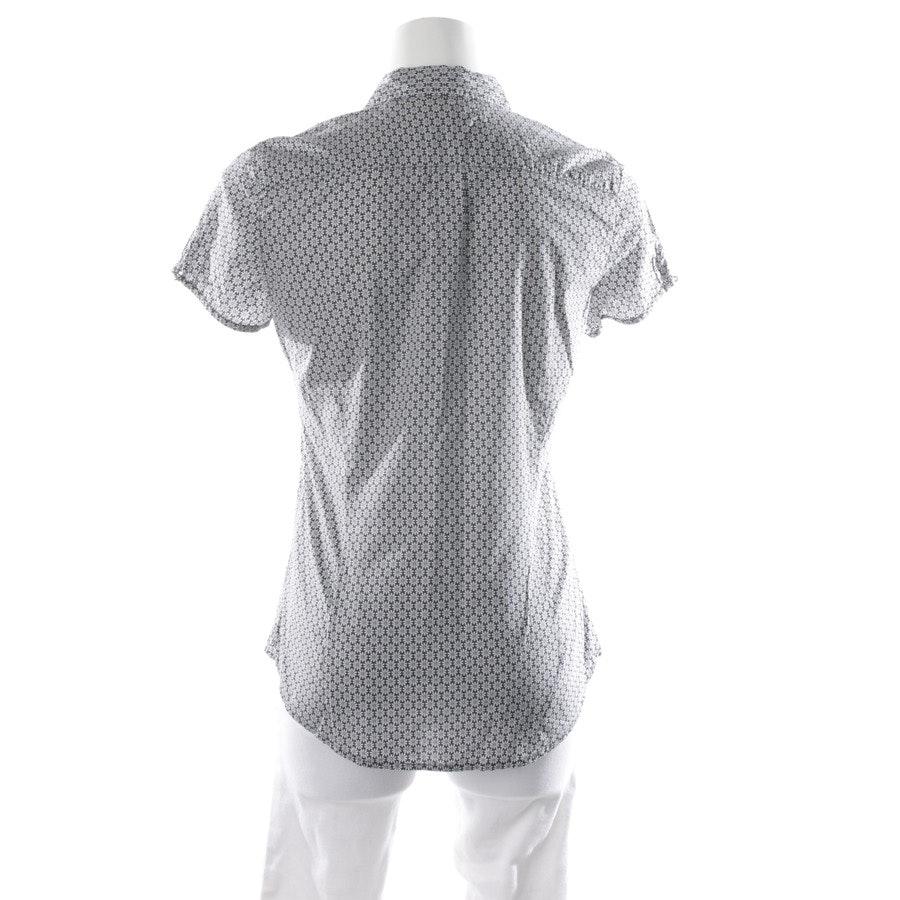 Bluse von Marc O'Polo in Dunkelblau und Weiß Gr. 34